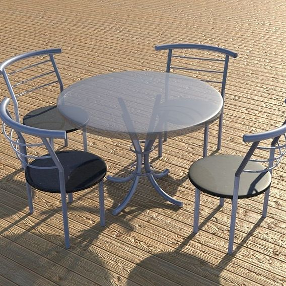 Photo Realistic simple table and chairs