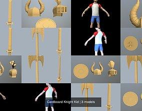 3D model Cardboard Knight Kid