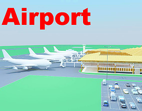 3D model Airport with Wooden Roof