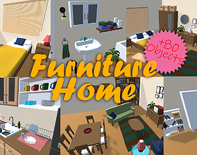Home Furniture LowPoly 3D model
