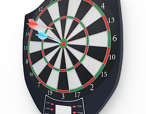 Electronic Darts Game 3D model