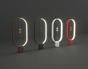 3D Futuristic Lamp with Magnetic Balls 4