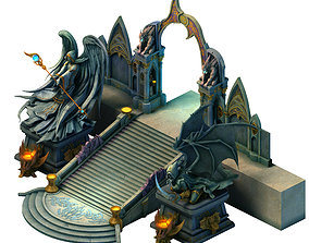 Tang Library - Exit Gate 01 3D model