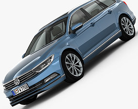 Volkswagen Passat Variant 2015 detailed interior 3D model