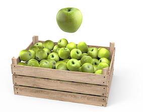 3D Green Apple Box
