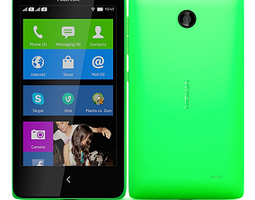 3D Nokia X and X plus Green