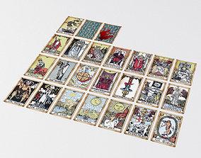 3D model Old Tarot Cards - Major Arcana - Tinted