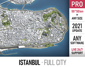 3D model low-poly Istanbul