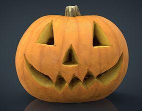 Realistic Halloween Pumpkin 3D asset