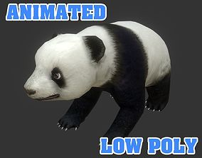 Low poly Panda Aniamted - Game Ready 3D asset