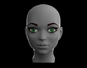 Female Head V2 3D asset