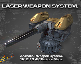 3D model LASER WEAPON SYSTEM