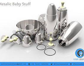 Metalic Baby Stuff 3D model baby