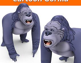 VR / AR ready Cartoon Gorilla 3D Models game ready