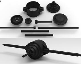 3D printable model Scale Axle V1 Gear Set 38T 13T
