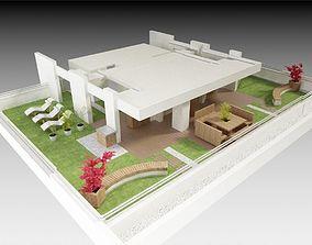 3D model Roof terrace 1