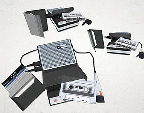 3D model realtime Tape Recorder set