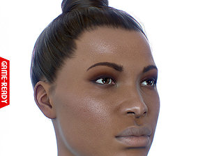 Average Black Female Head 3D model