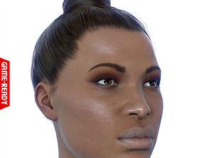 Average Black Female Head 3D model