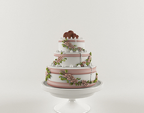 Wedding Cake cake 3D model