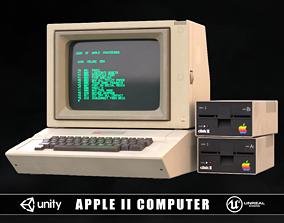 3D asset game-ready Apple 2 Computer