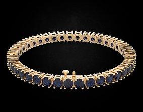 Tennis bracelet with diamonds 463 3D print model