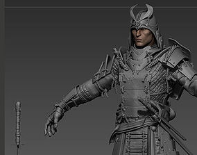 3D Samurai high poly Zbrush Project