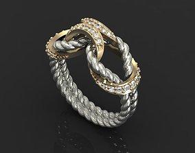 3D printable model rope Rope ring