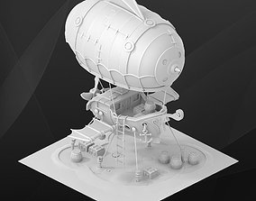 3D Fantasy game building - Zeppelin architectural