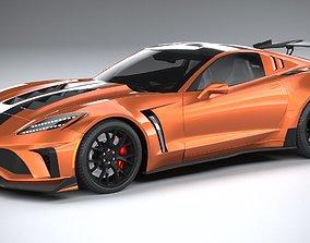 Generic c7 sport car 3D model