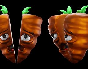 Carrot Character 3D asset