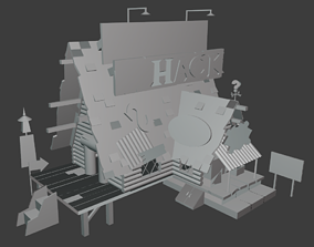 Gravity falls mystery shack low quality model
