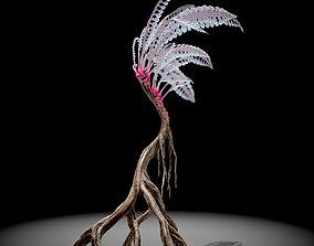 Alien Plant Fern Type 1 3D asset VR / AR ready