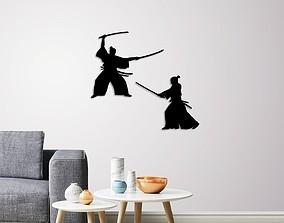 Samurai warriors wall decoration 3D print model