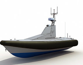 Homeland Security Unmanned Patrol Boat 3D model