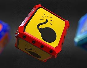 3D model Game-Ready Explosives Resource Crate