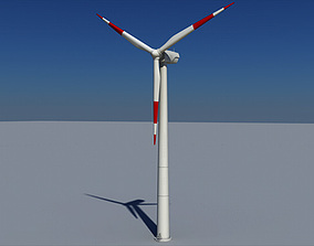 3D model Wind Turbine Land