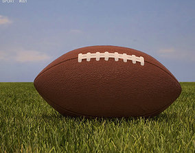 American Football Ball 3D asset