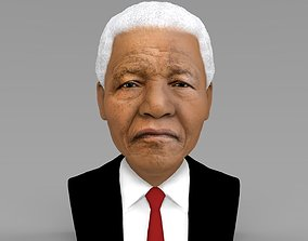 Nelson Mandela bust ready for full color 3D printing