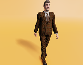 3D model Business Man - Animated low-poly