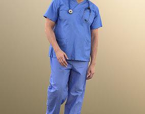 11028 Sahir - Medical Doctor standing paramedic 3D model 1