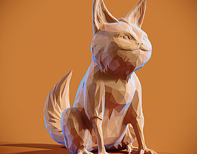 3D print model Lowpoly Loth Cat
