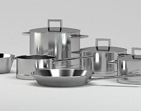 lid Metal cooking pots 3D