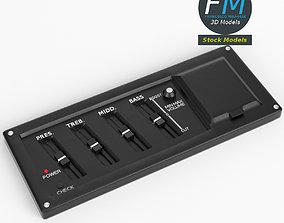 3D model Guitar equalizer control panel