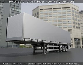 3D model Semitrailer - Auflieger - Low-Poly Version
