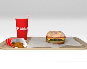 3D model Cheeseburger