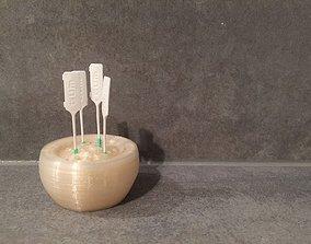 Tooth or food pick bowl 3D print model