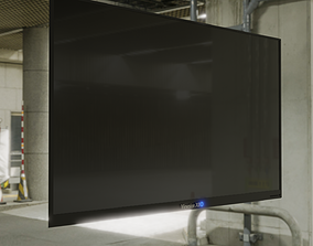 Wall Mounted Low-Poly TV 3D