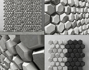 3D model Panel decor hexagon