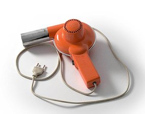Italian Hair Dryer Vintage Orange 3D dry
